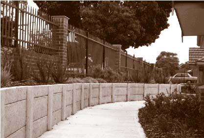 fencing concrete wall